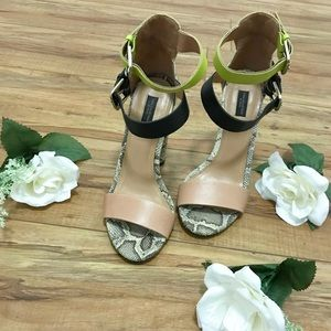 Zara open toe heels